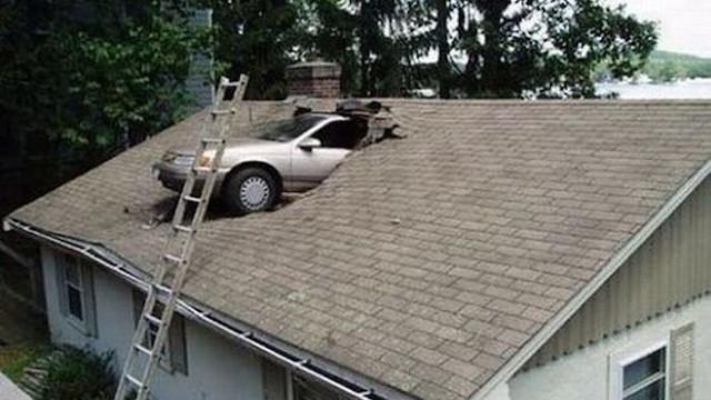 Αποτέλεσμα εικόνας για car accident in house