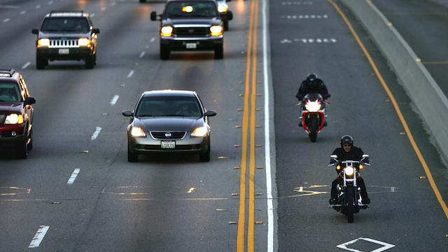 Motorcycle Riders in Carpool Lane