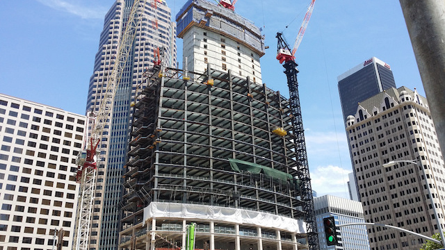 wilshire grand construction worker
