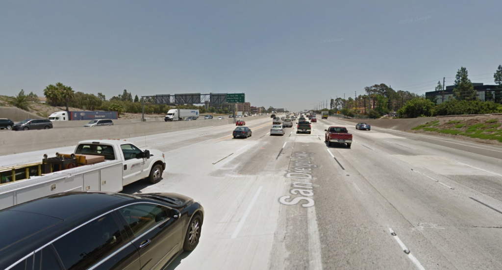 I-5 Freeway - Most Dangerous Roads in Orange County