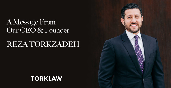 A Message from Our CEO & Founder, Reza Torkzadeh