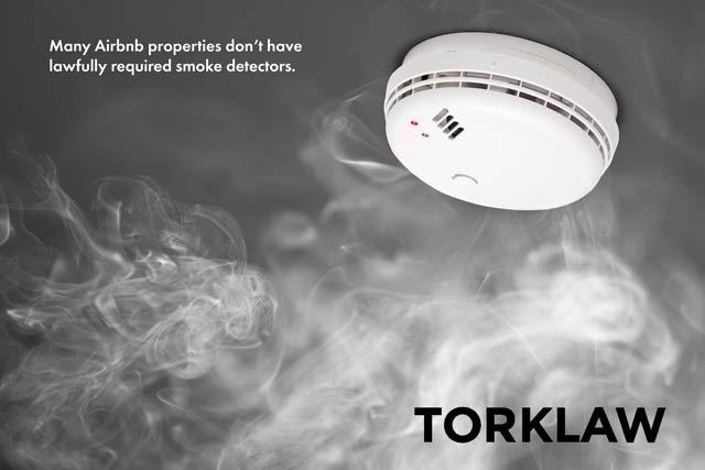 Airbnb-no smoke detector