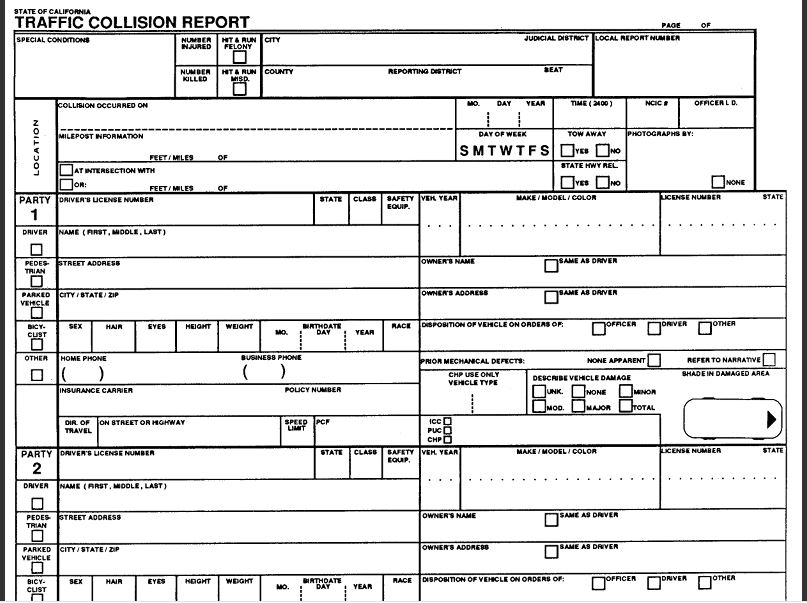 California Traffic Collision Report