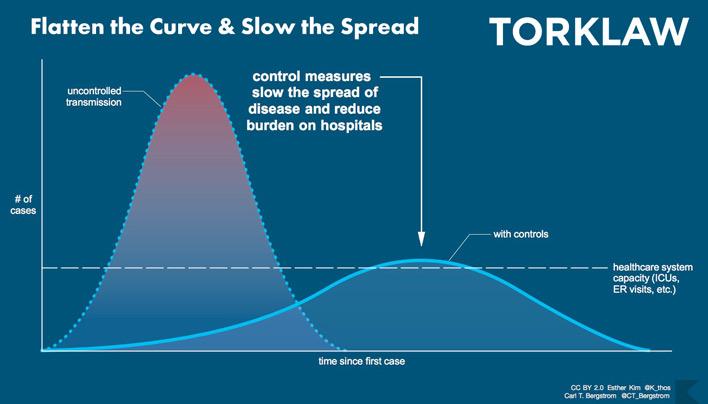 coronavirus - flatten the curve - slow the spread