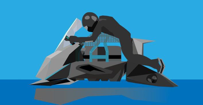 UAM - flying motorbike
