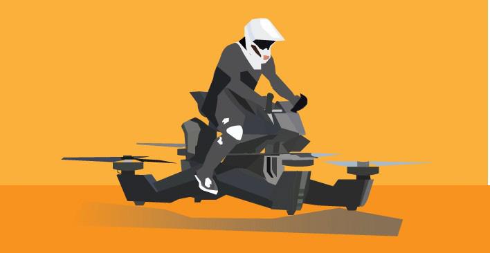 UAM - flying motorcycle