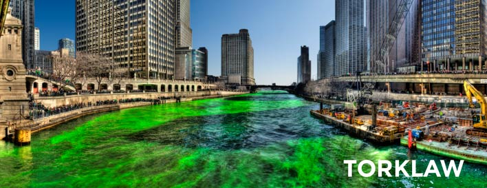 dying chicago river green