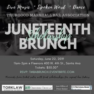 Thurgood Marshall Bar Association Sponsorship