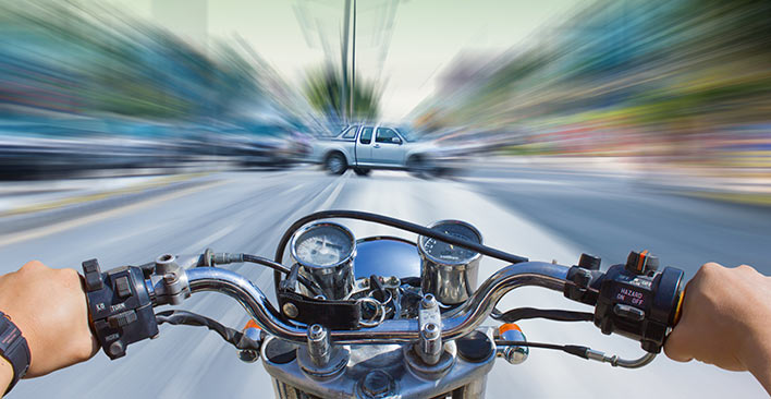 impending motorcycle accident