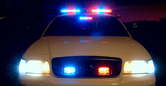 emergency lights - police car