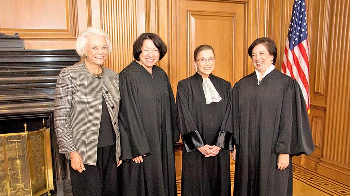 Women Lawyers - O'Connor Sotomayor Ginsburg Kagan