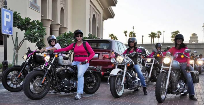 Group of Women Motorcycle Riders