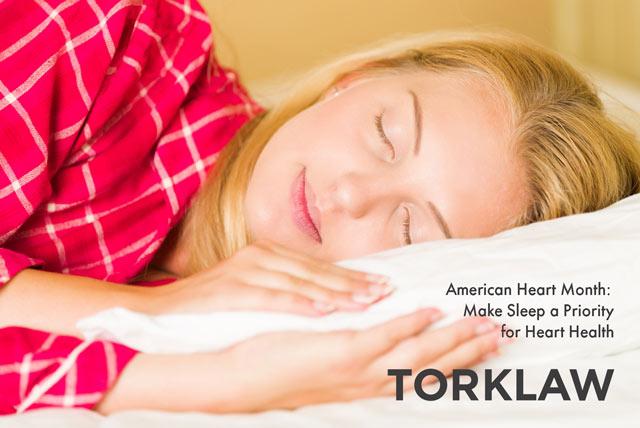 american heart month - sleep