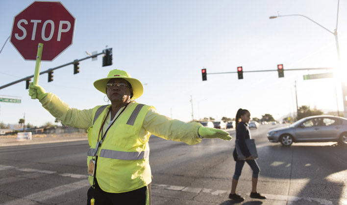 back to school safety - crossing guard