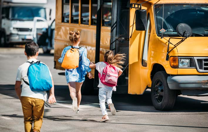 back to school safety - school bus