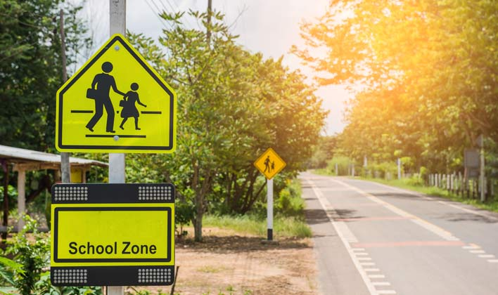 back to school safety - school zone