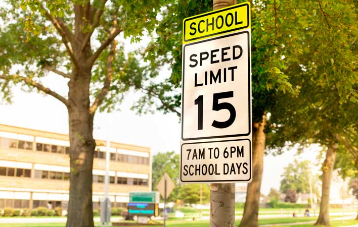 back to school safety - speed limit