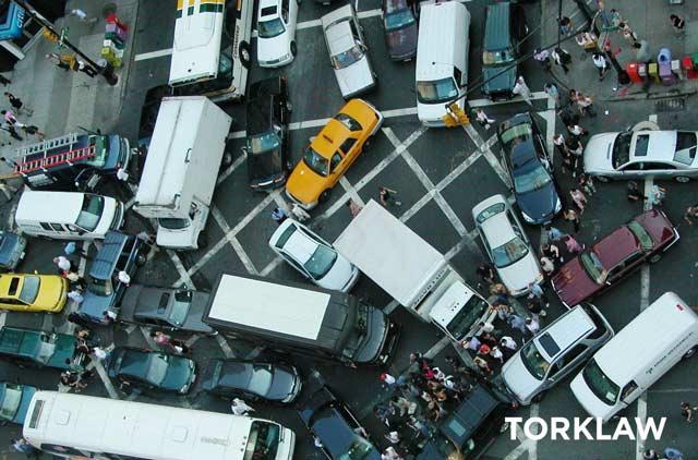 bad driving habits - gridlock