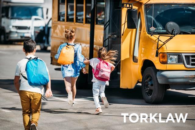 bad driving habits - school bus