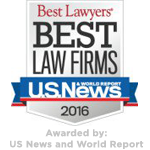 Best Lawyers 2016 - Awarded by US News and World Report