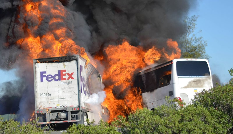 Charter Bus Safety Standard Increase, Following a Northern California Accident with FedEx Truck