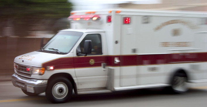 common car accident injuries - ambulance