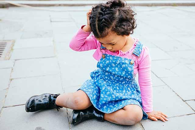 child injury - slip and fall