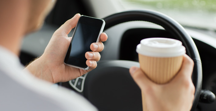 distracted driving accidents - multitasking myth