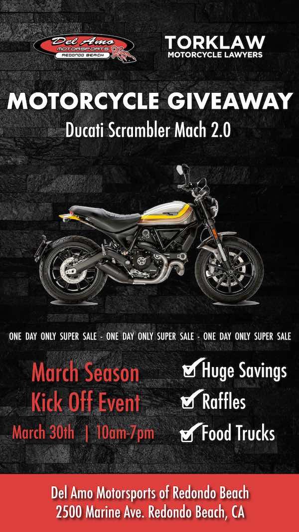 Ducati Motorcycle Giveaway