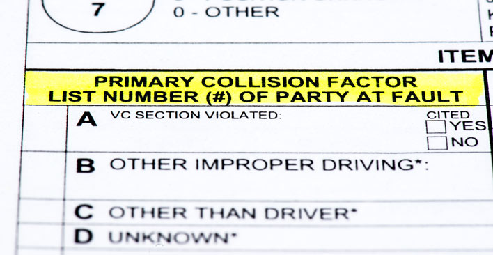 file a police report - fault