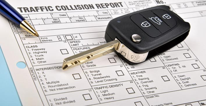 file a police report - traffic collision report