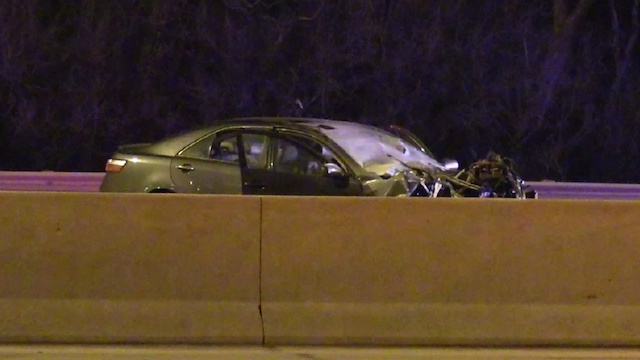 Car accident on expressway