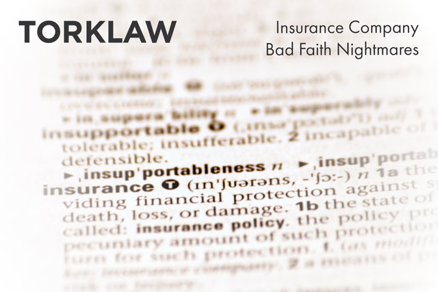 insurance company bad faith
