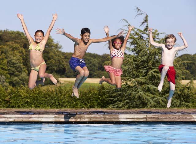 fourth of july pool fun