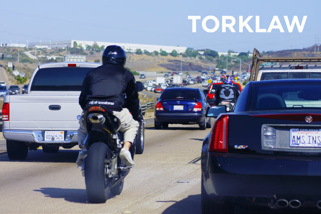 lane splitting motorcycles
