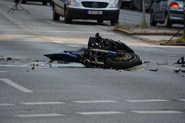 motorcycle accidents - property damage