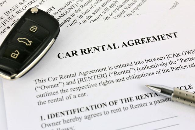 rental car accident - agreement