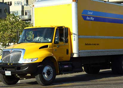 Less Common Car Accidents - rental truck