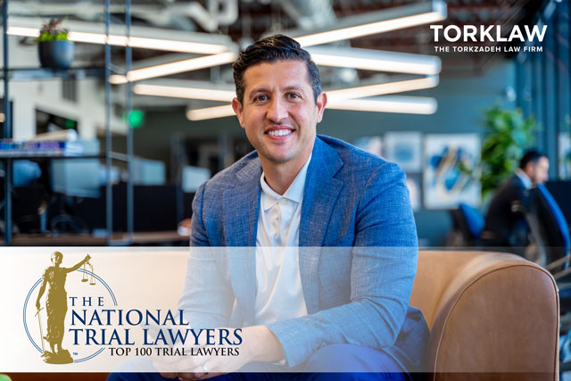 Reza Torkzadeh Named a Top 100 Trial Lawyer by The National Trial Lawyers Association