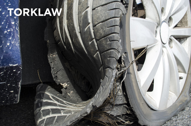 rollover accident - tire blowout