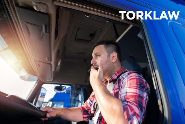 semi truck accident - drowsy driving