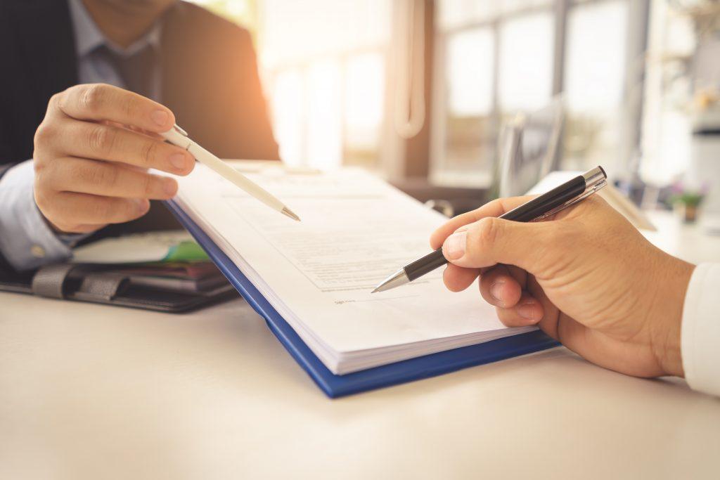 insurance company paperwork