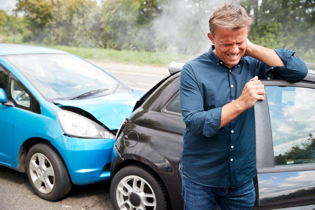 car accident, neck pain