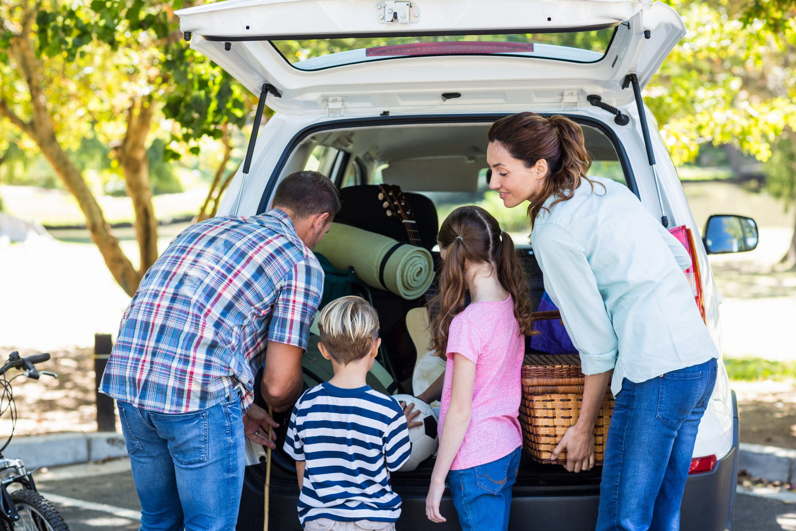 road trip safety kids family car