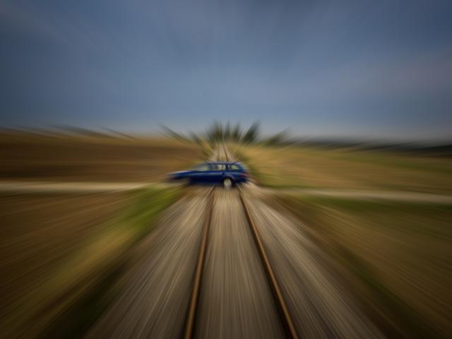 train accident - crossing