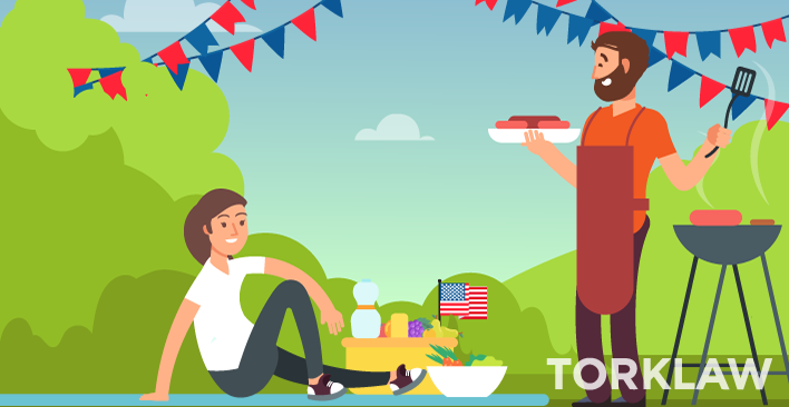 Two People Celebrating President's Day with a Barbecue