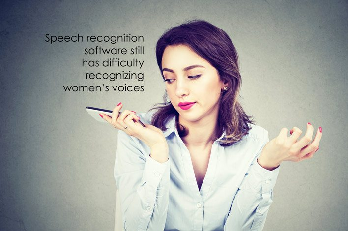 Voice recogition does not recognize women