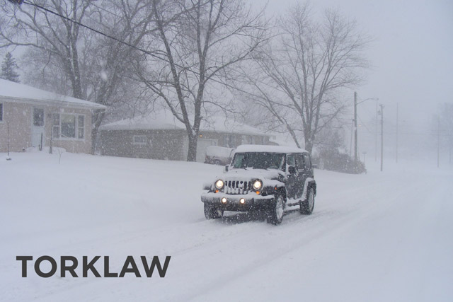 winter driving hazards - snow